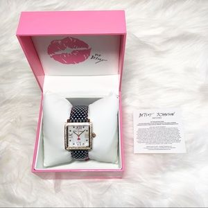 Betsey Johnson Square Bling Watch